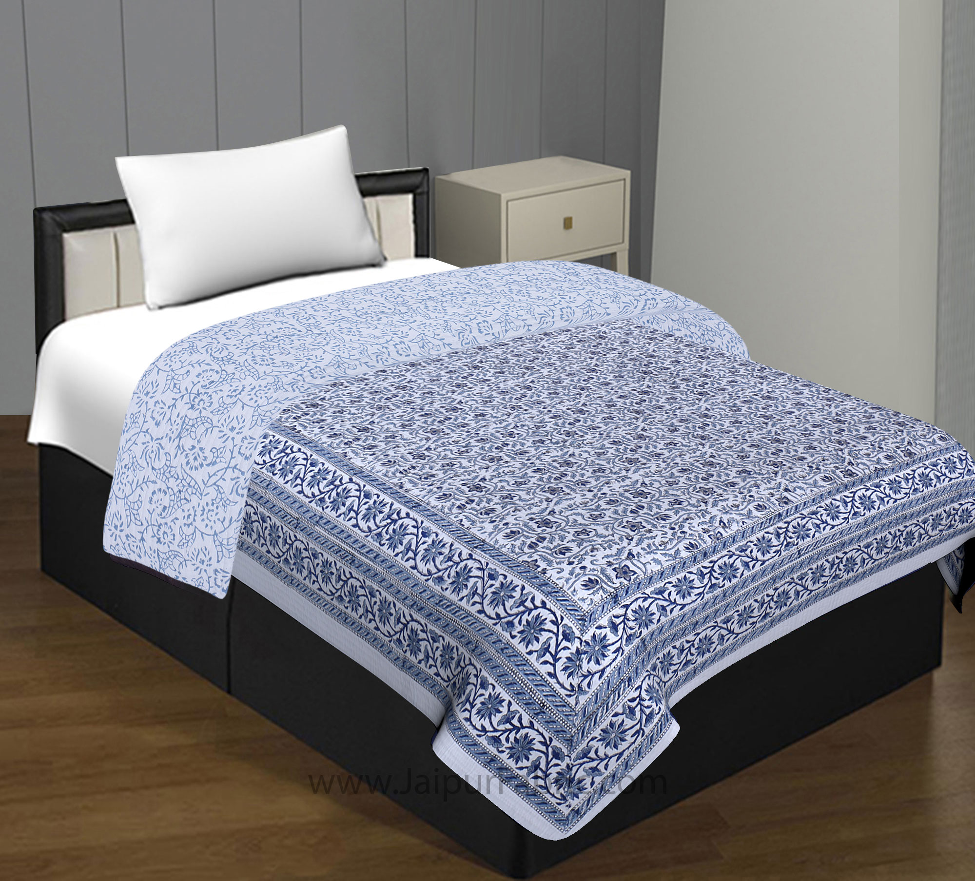 Royal Hand Block Single Bed Comforter