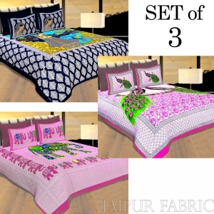 COMBO25 - Set of 3 Double Bedsheets
