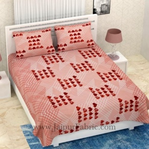 COMBO345 BROWN HEART BEDSHEET + COMFORTER SET