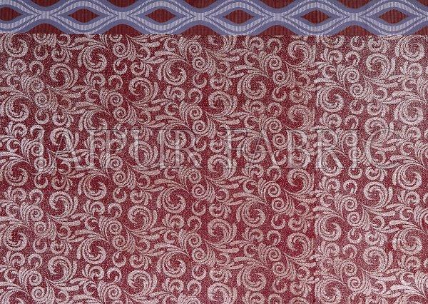 Brown Border Retro Pattern Screen Print Cotton Double Bed Sheet