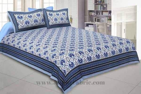 Flickering Bale Blue Double Bedsheet