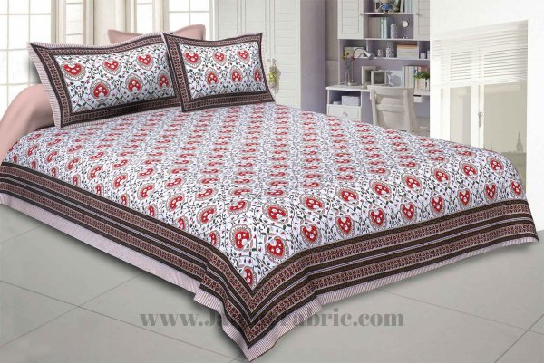 Flickering Bale Orange Double Bedsheet