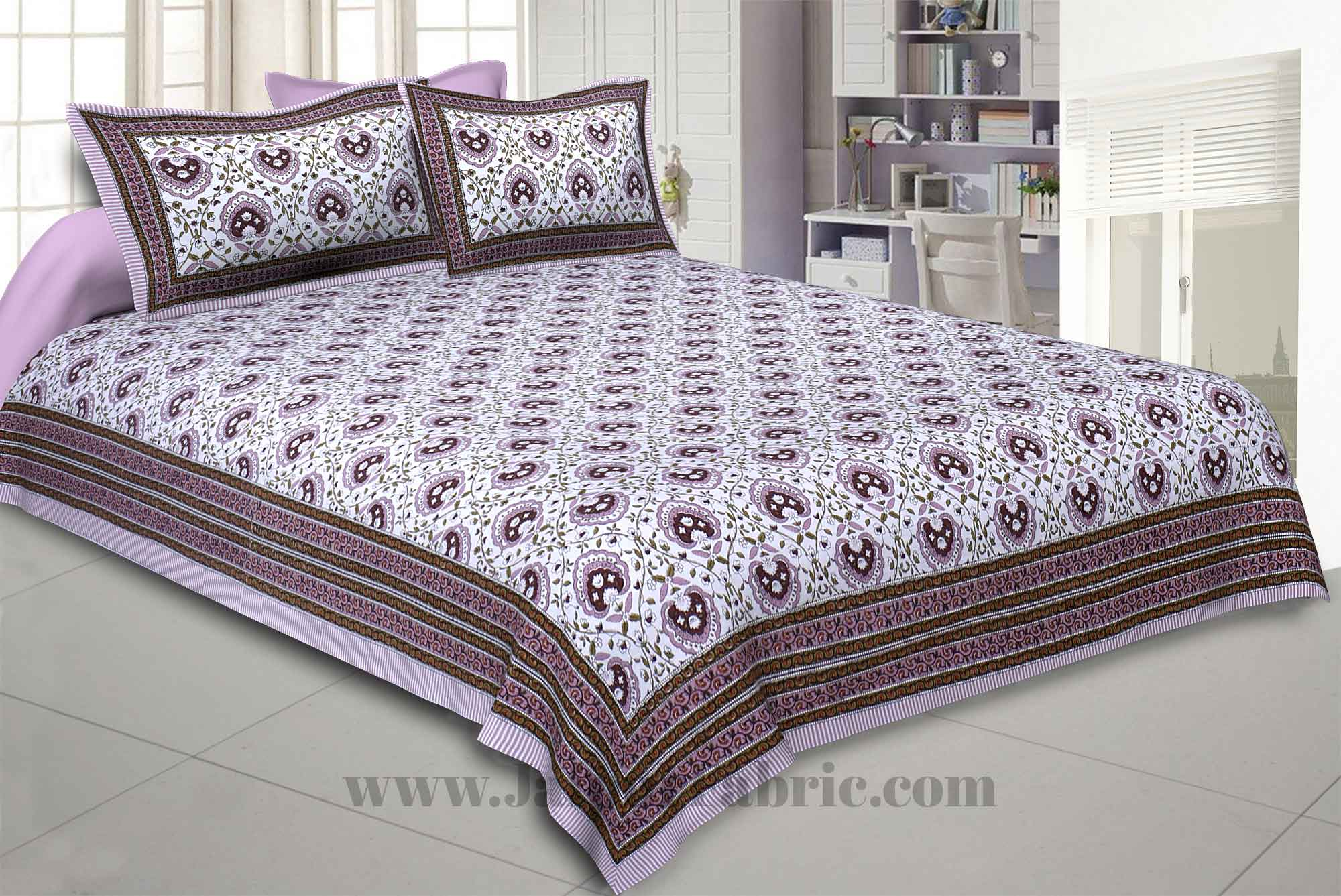 Flickering Bale Pink Double Bedsheet