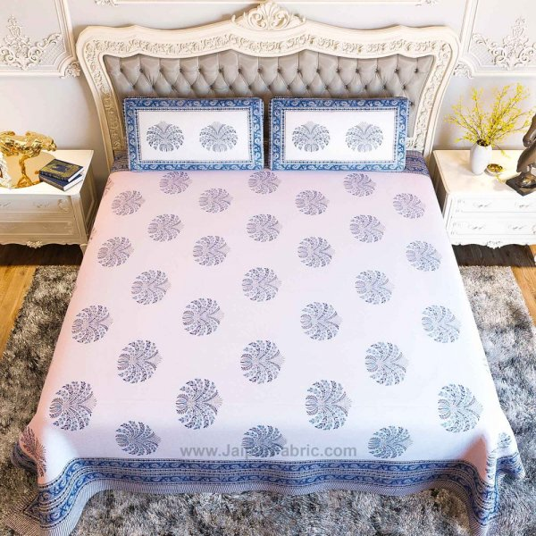 The Blue Pumpkin Hand Block Print Double Bedsheet