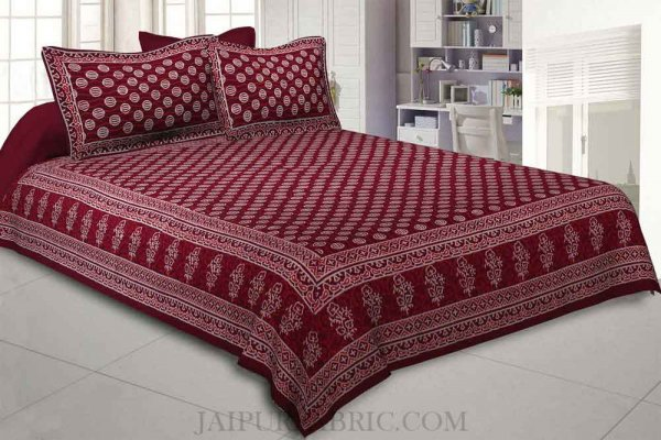 Bubbly Balls Hand Block Print Double Bedsheet
