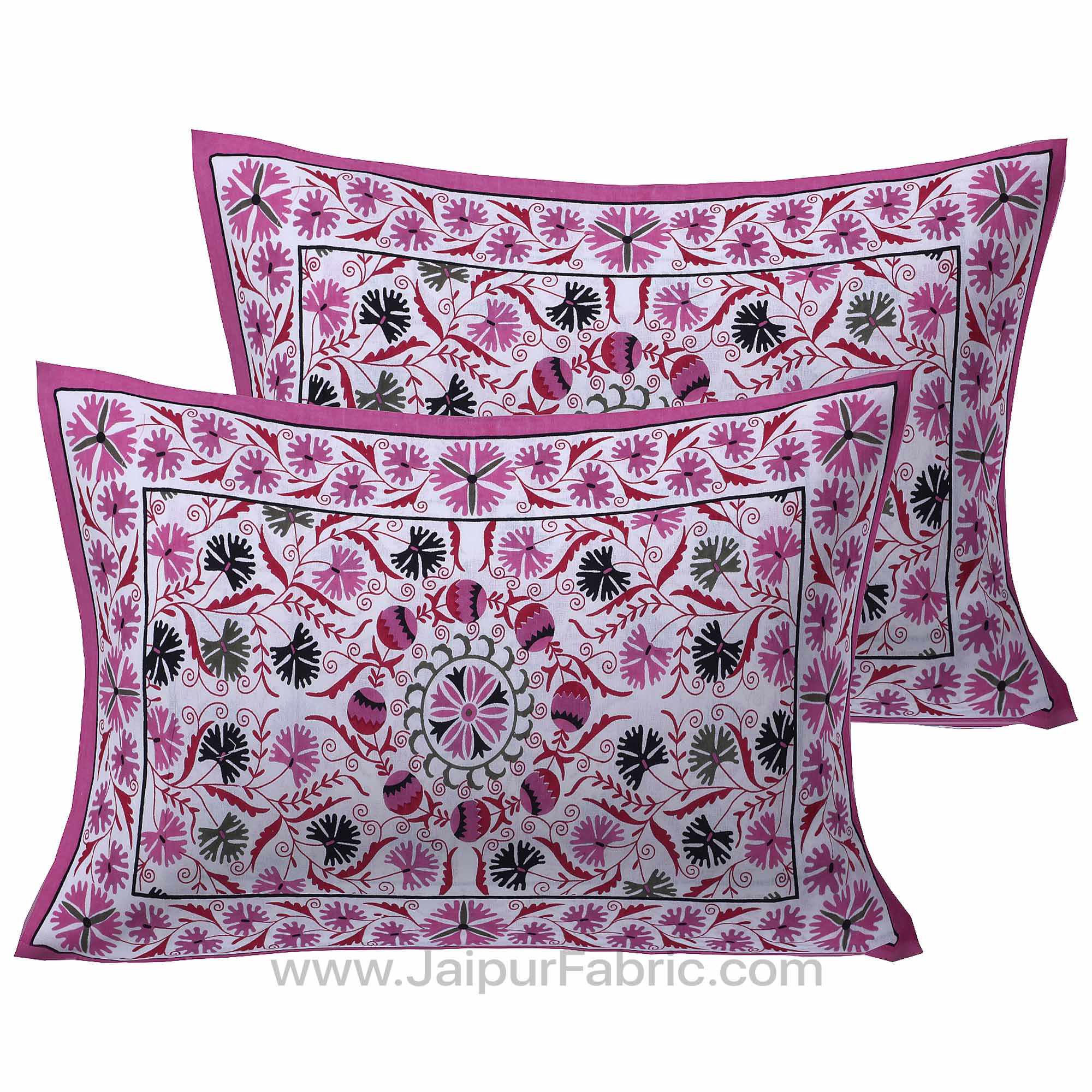 Pink Festive Vibes Double Bedsheet