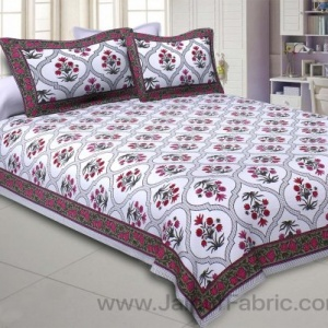 Pink Celebrations Double Bedsheet