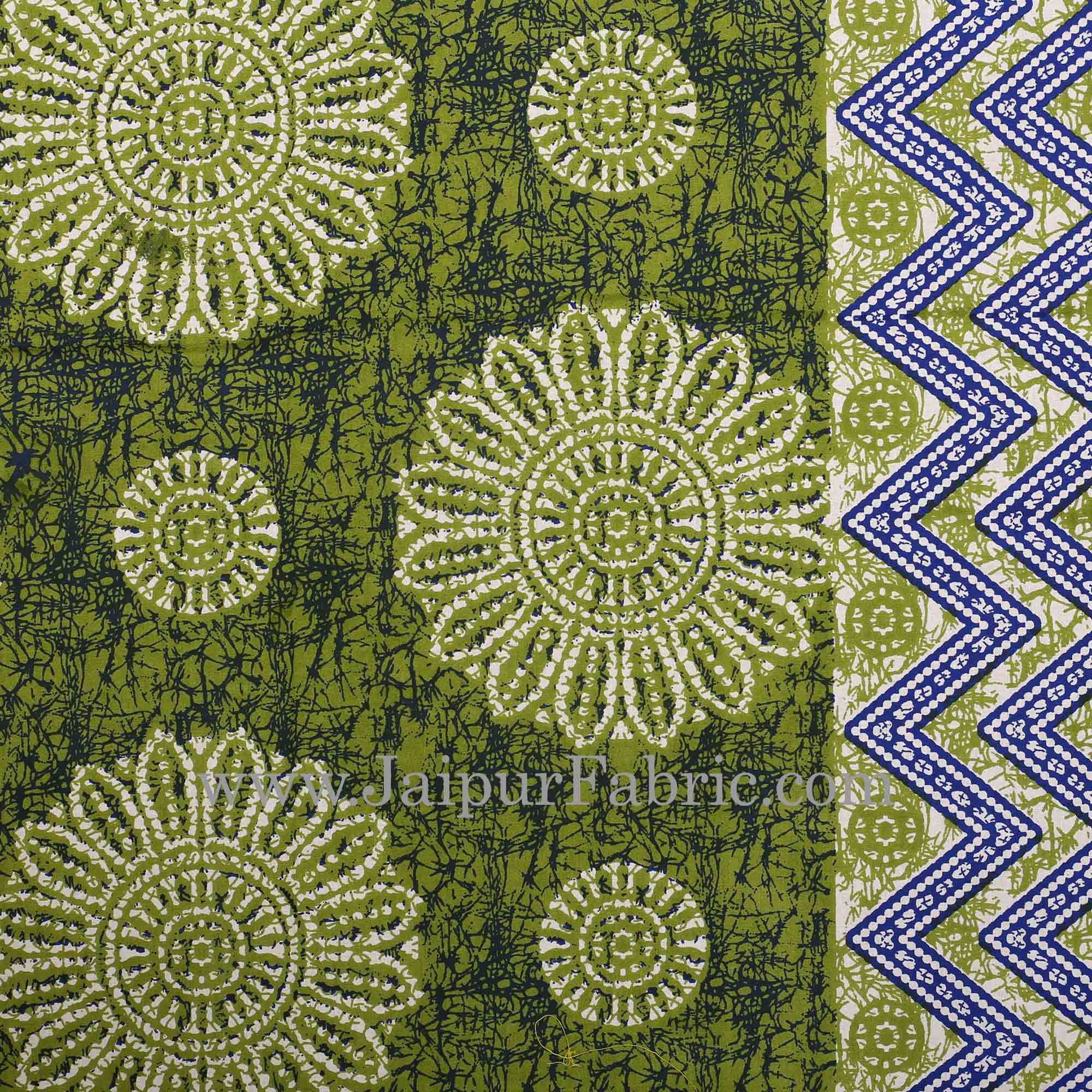 Green Border With Zig Zag Pattern Green Blue Base With