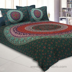 Green Double Bedsheet Indian Mandala Tapestry Hippy Tapestries Hippie Beach Throw