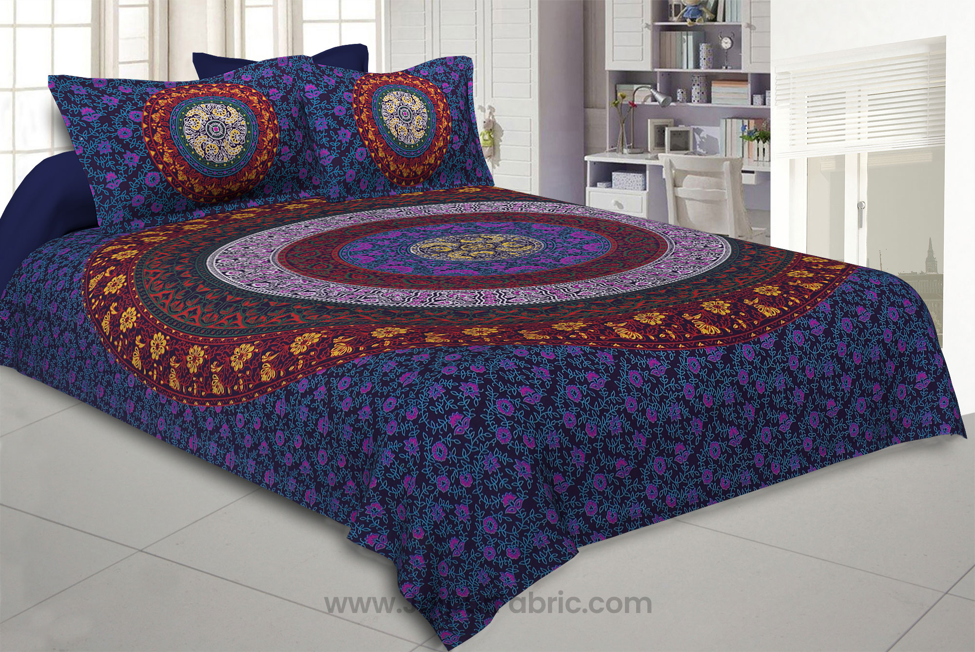 Purple Double Bedsheet Indian Mandala Tapestry Hippy Tapestries Hippie Beach Throw