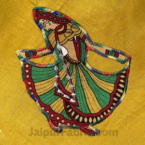 Applique Mehandi Green Gujri Jaipuri  Hand Made Embroidery Patch Work Double Bedsheet