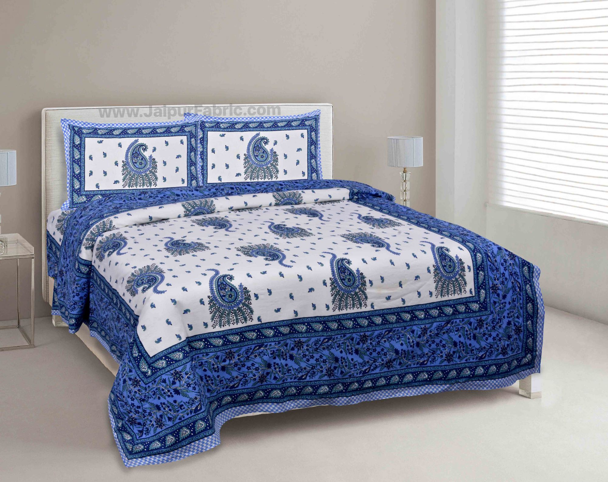 Blue Pageant Paisley Double Bedsheet