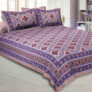 Brown Kalamkari Double Bedsheet