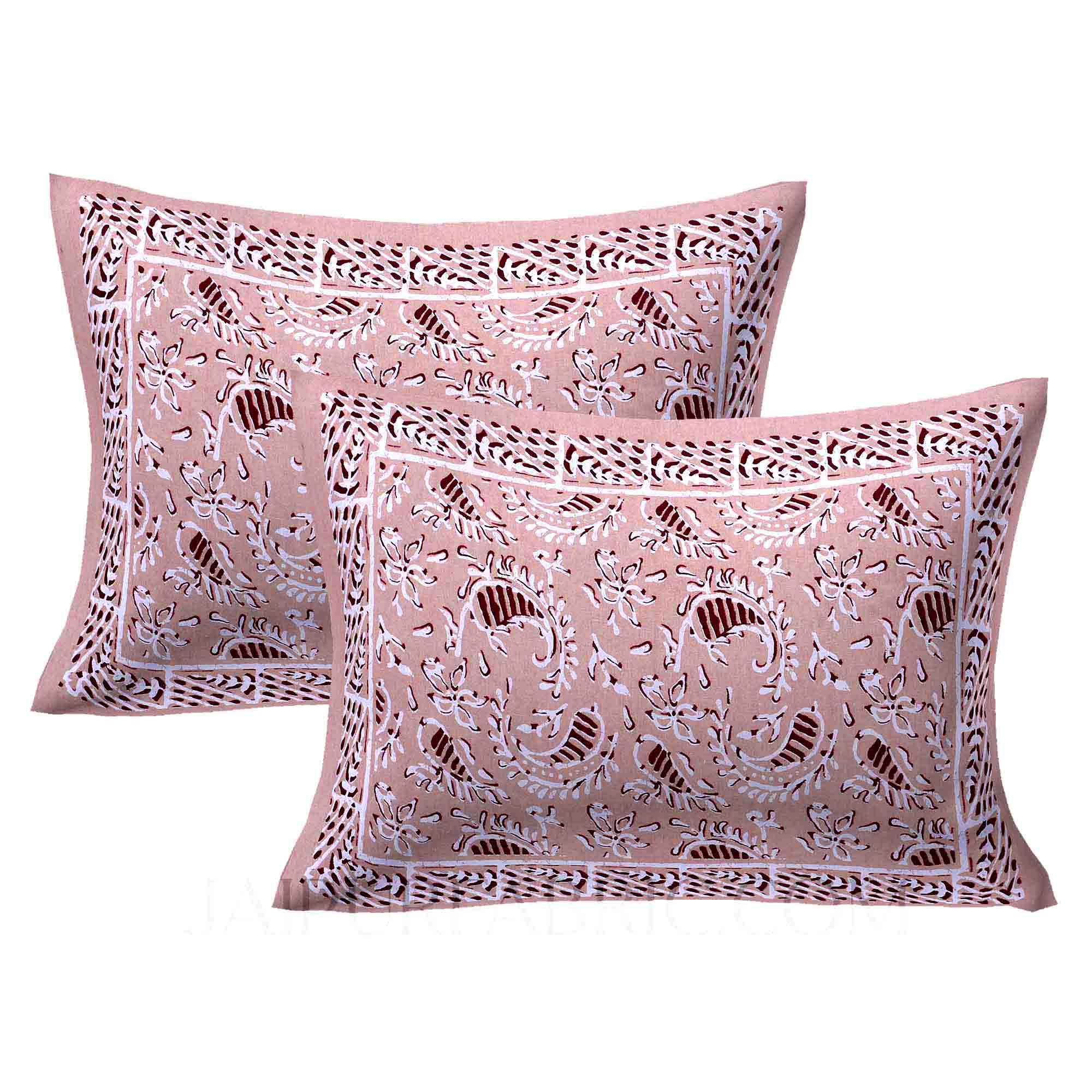 Brown Artistic Paisley Double Bedsheet