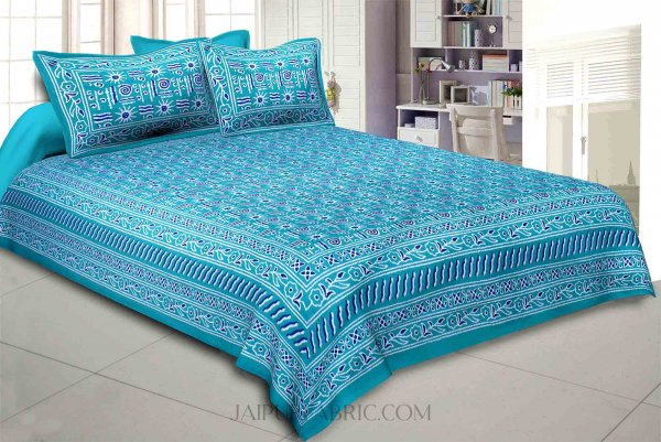 Green Modern Art Double Bedsheet