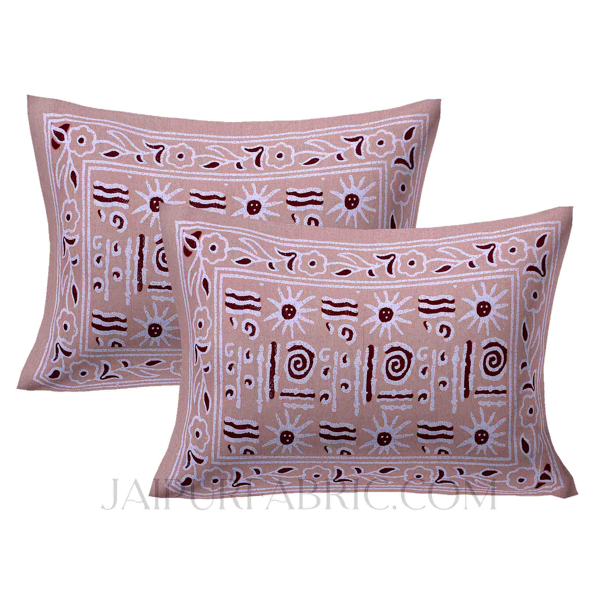 Brown Modern Art Double Bedsheet
