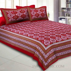 Red Pink Kite Charisma Double Bedsheet