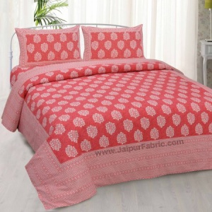 Pink Traditional Badge Double Bedsheet