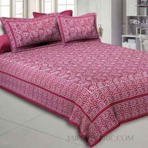 Aqua Kingdom Pink Double Bedsheet