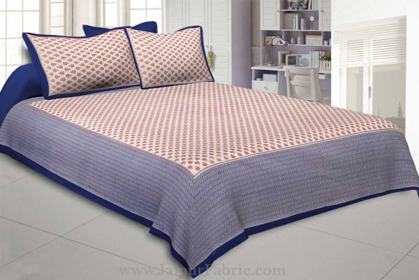 Orange Booti Double Bedsheet