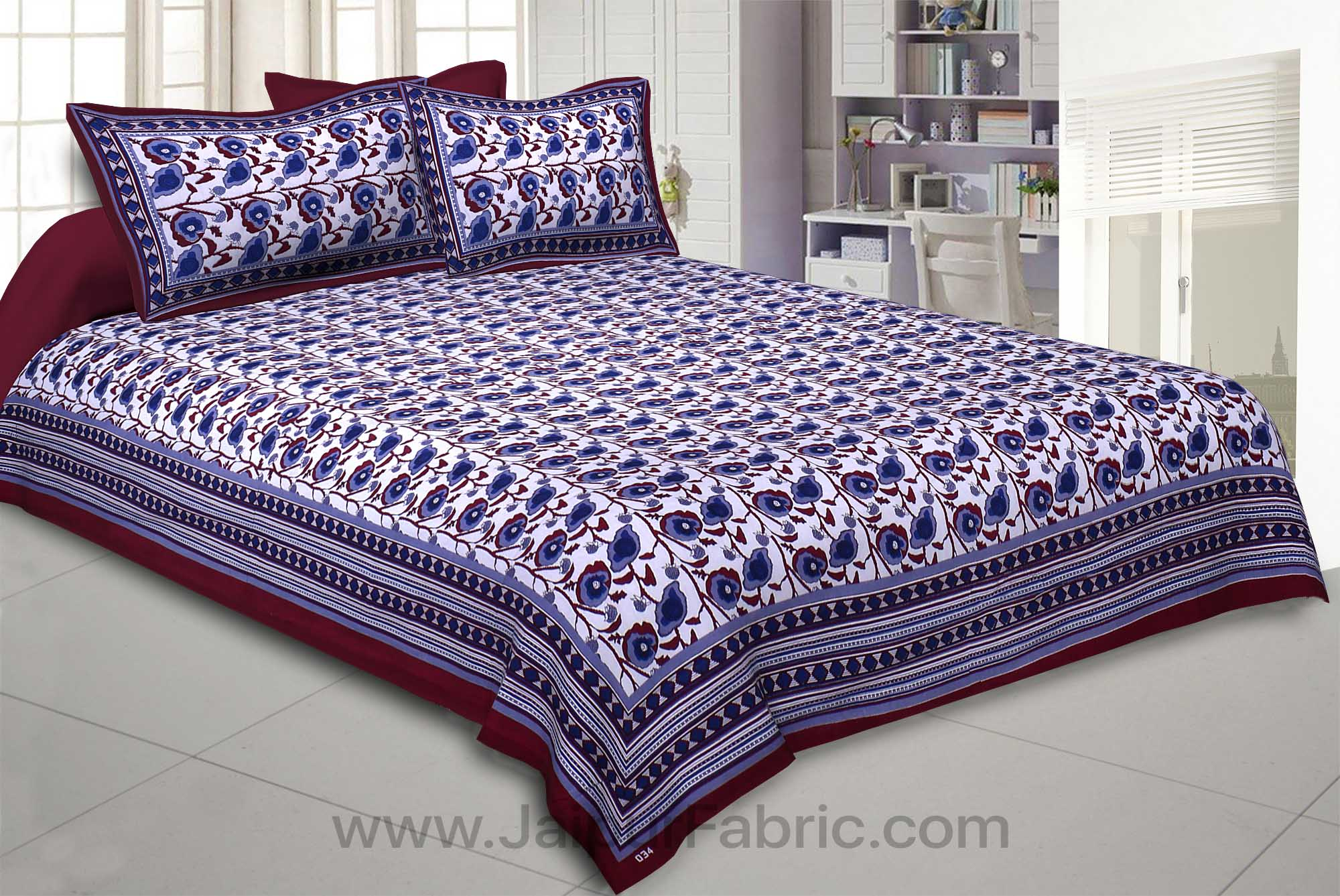 Violet Daffodils Double Bedsheet