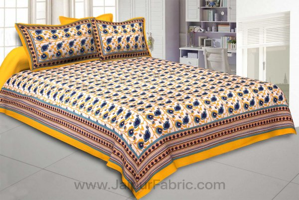 Yellow Daffodils Double Bedsheet