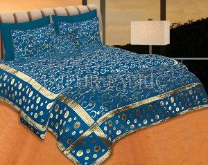 Ocean Color Tropical Design Festive Double Bed Sheet