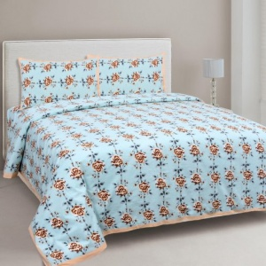 Peach Garland Double Bedsheet
