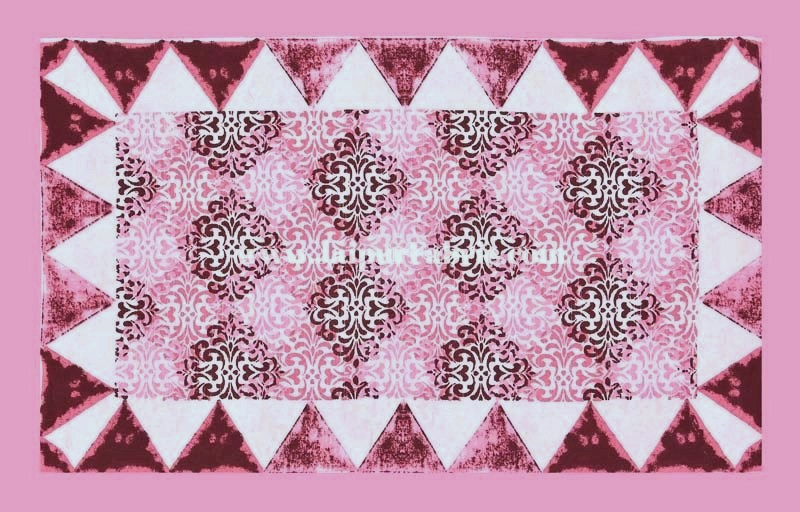 Traditional Delight Pink Double Bedsheet