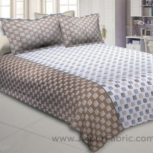 The Good Life Brown Double BedSheet