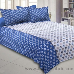 The Good Life Blue Double BedSheet