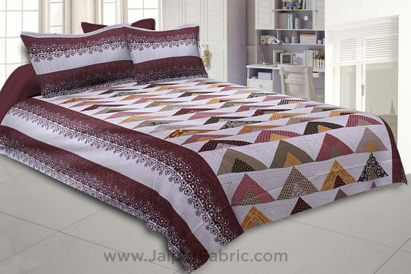 Keep it Up Maroon Double Bedsheet