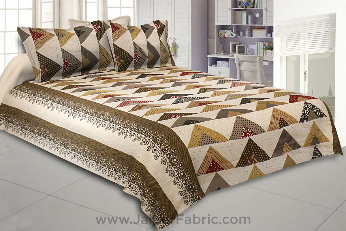 Keep it Up Brown Double Bedsheet
