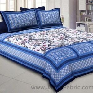 Nature Beauty Blue Double Bedsheet