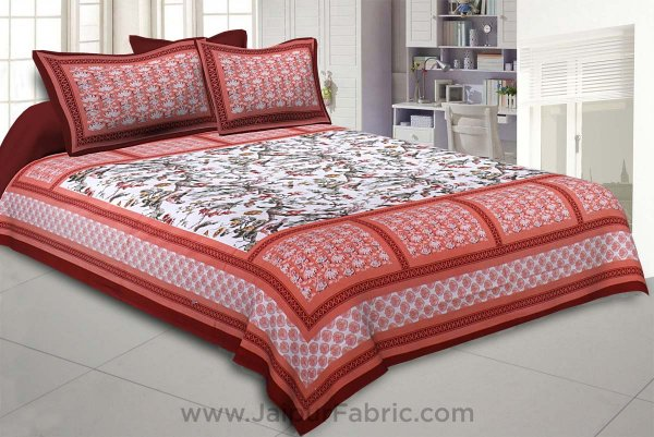 Nature Beauty Orange Double Bedsheet