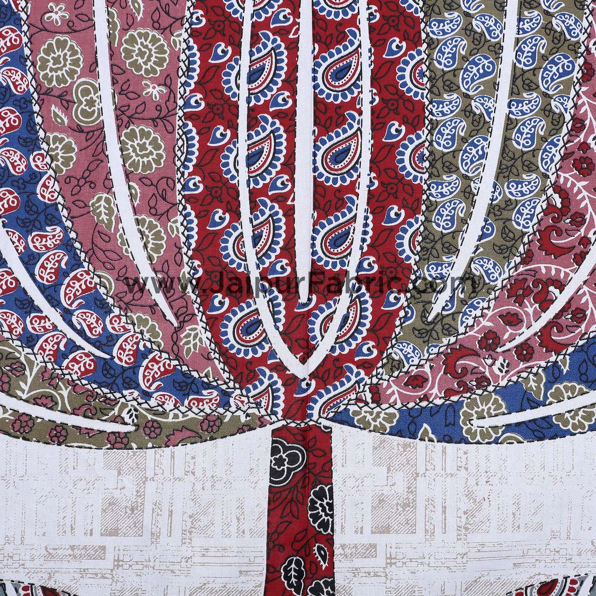 The Big Lotus in Mulitoclor Double BedSheet