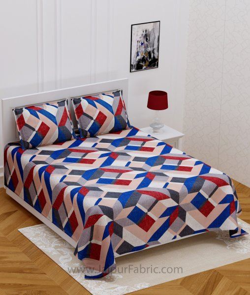 Colorful Cornered Double Bedsheet