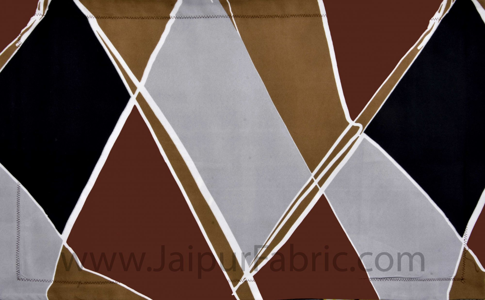Tough Terrain Brown Double Bedsheet