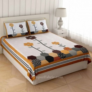 Germinating Yellow Flowers Double Bedsheet