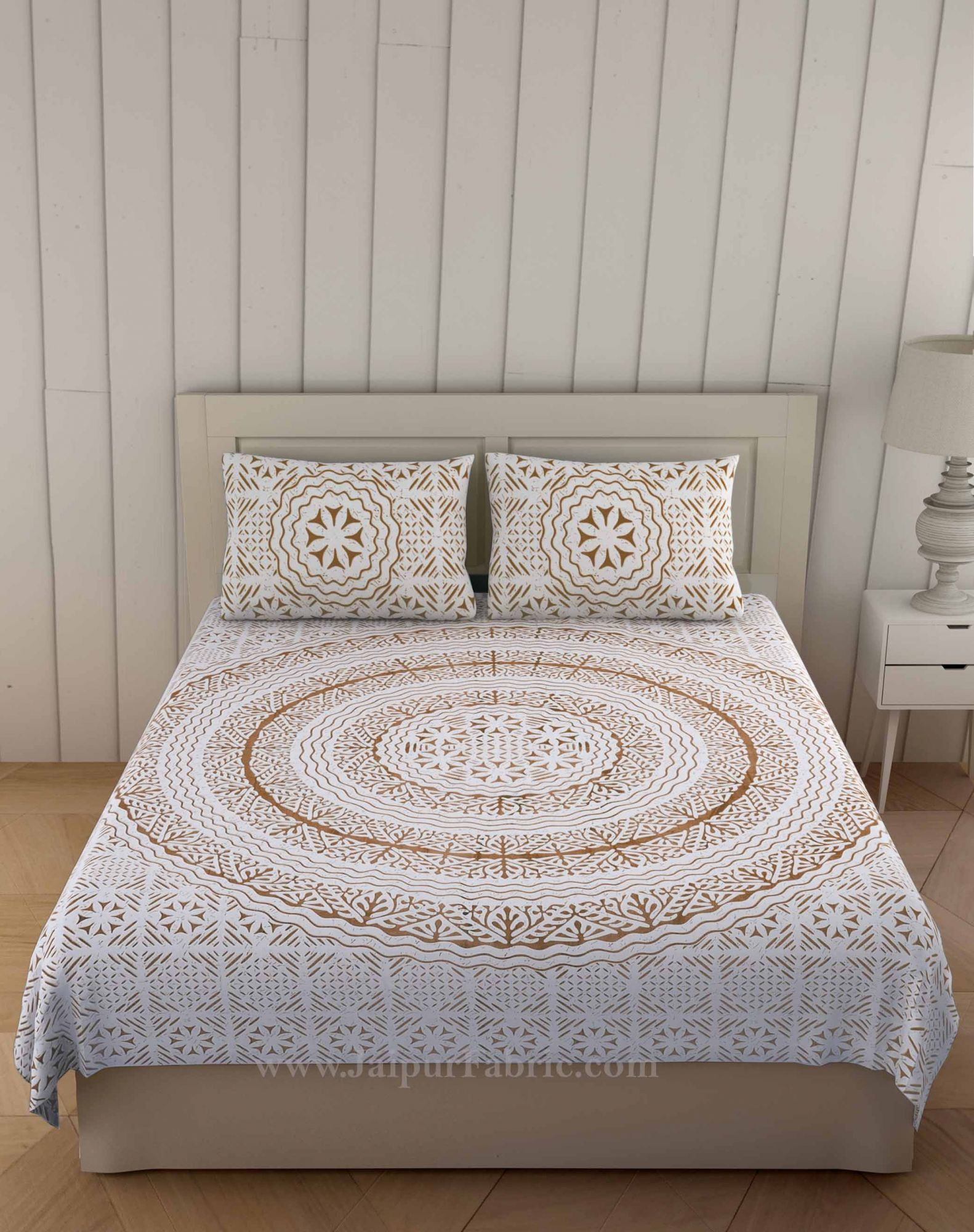 Brown Loop Double Bedsheet