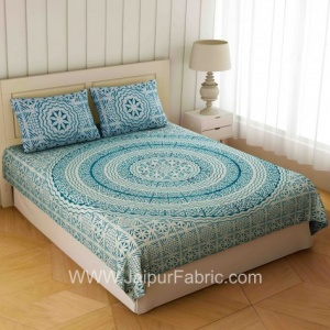Blueish Grey Loop Double Bedsheet