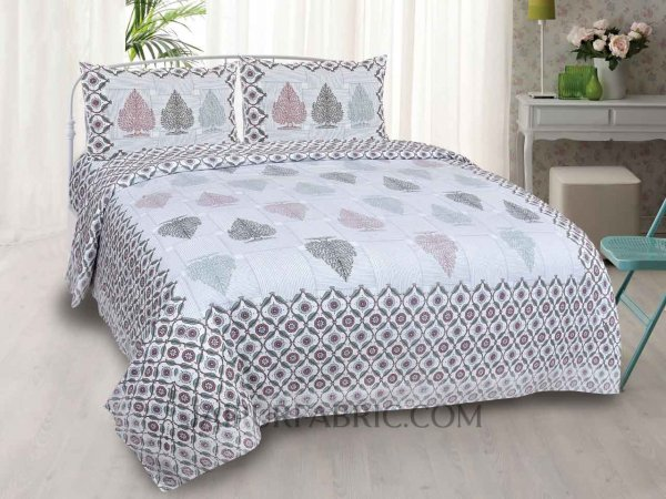 Himalayan Cedar Off White Double Bedsheet