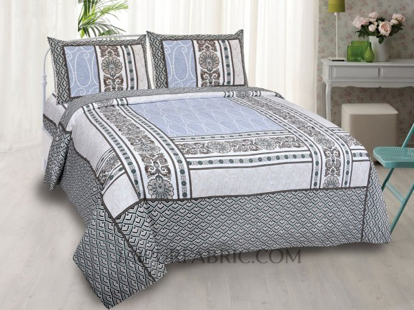 Designer Scales Grey Double Bedsheet