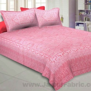 Pearl Array Peach Double Bedsheet
