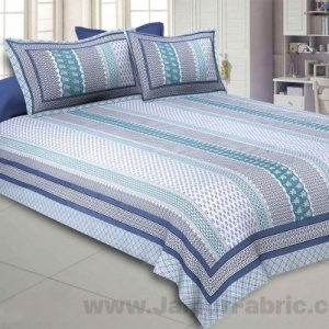 Longitudinal Composition Green Double Bedsheet