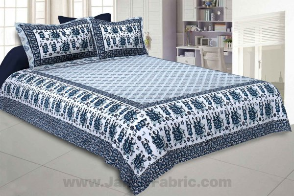 Royal Sawari Blue Double Bedsheet