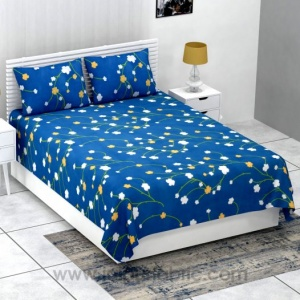 Beautiful Multi Small Floral Print Super-soft Bedsheet