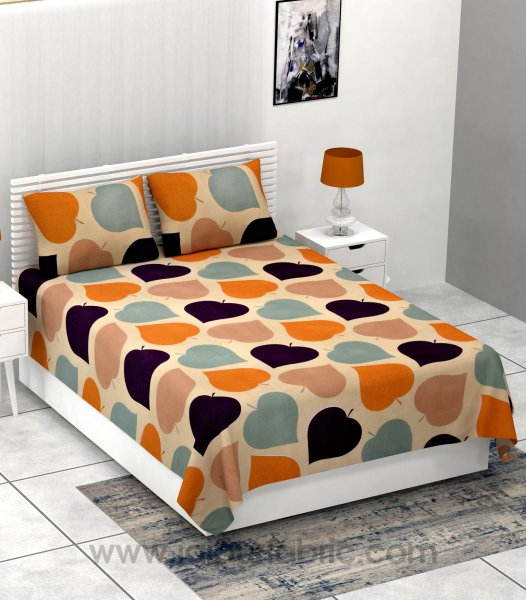 Paan Pattern Super-soft Double Bedsheet