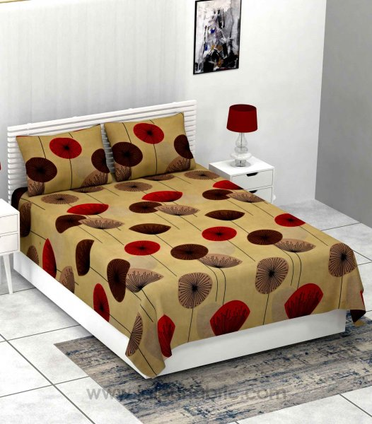 Seamless Sun Flower Softness Premium Super-soft Double Bedsheet