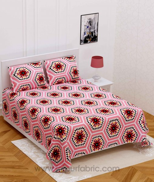 Navy Rangoli Multicolored Design Super-soft Double Bedsheet